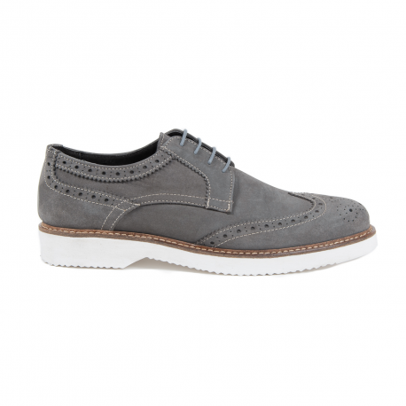 V 1969 Italia Mens Brogue Shoe Grey HARRY