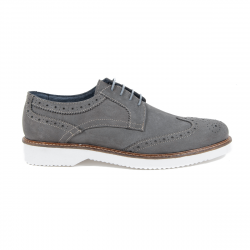 V 1969 Italia Mens Brogue Shoe Dark Grey HARRY