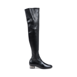Salvatore Ferragamo Womens High Boot Black BRINDISI
