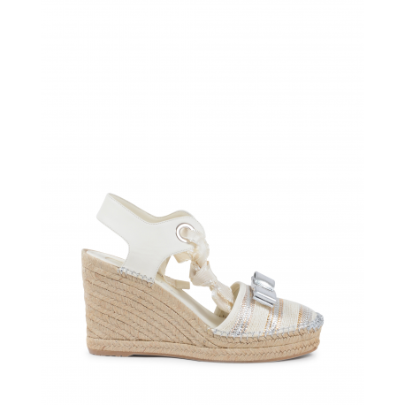 Salvatore Ferragamo Womens Wedge Sandal Cream EUGENIE