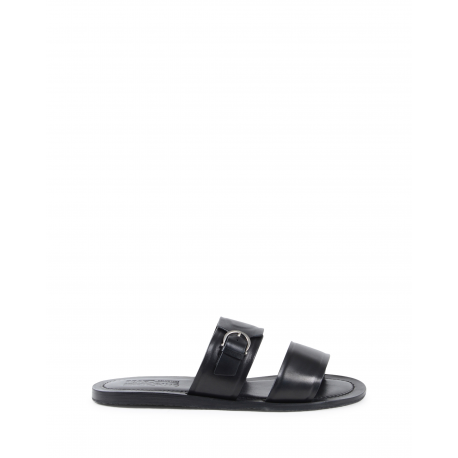 Salvatore Ferragamo Mens Slipper Black FILICUDI