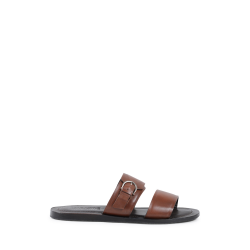 Salvatore Ferragamo Mens Slipper Brown FILICUDI