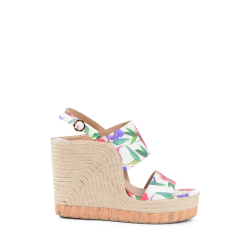 Salvatore Ferragamo Damen Wedge Sandale Multicolor MARATEA
