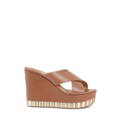 Salvatore Ferragamo Damen Wedge Sandale Tan NICOSIA