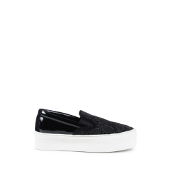 Salvatore Ferragamo Sneaker Slip On Donna Nero PACAU LACE