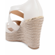 Michael Kors Womens Wedge Sandal Cream ABBOTT