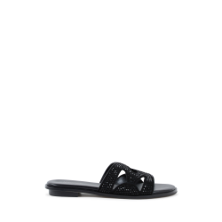 Michael Kors Womens Slipper Black ANNALEE