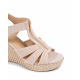 Michael Kors Damen Wedge Sandale Pink BERKLEY
