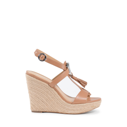 Michael Kors Womens Wedge Sandal Tan DARIEN