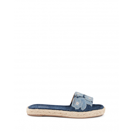 Michael Kors Womens Slipper Blue Denim DEMPSEY