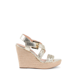 Michael Kors Womens Wedge Sandal Gold GIOVANNA