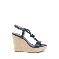 Michael Kors Womens Wedge Sandal Navy Blue HOLLY