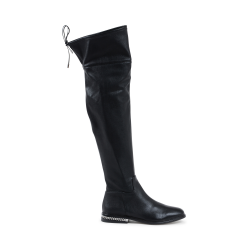 Michael Kors Womens High Boot Black JAMIE