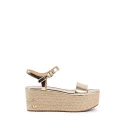 Michael Kors Womens Platform Sandal Gold NANTUCKET