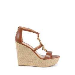Michael Kors Womens Wedge Sandal Brown SUKI
