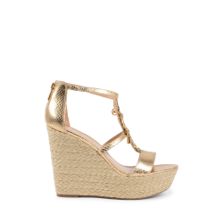 Michael Kors Womens Wedge Sandal Gold SUKI