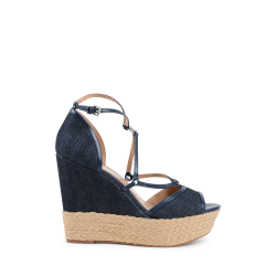 Michael Kors Womens Wedge Sandal Navy Blue TERRI