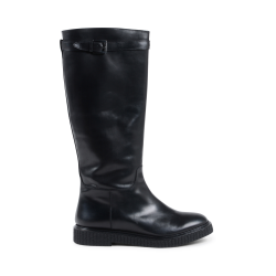 Fratelli Rossetti Womens High Boot Black 75396 VELVETY NERO