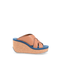 Chloè Damen Wedge Sandale Tan SB30143 COGNAC