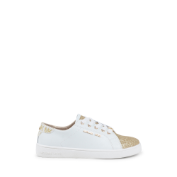 Michael Kors Girls Sneaker White ZIA IVY MARTIN WHITE GOLD
