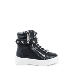Michael Kors Girls High Sneaker Black ZIA IVY CADETT BLACK