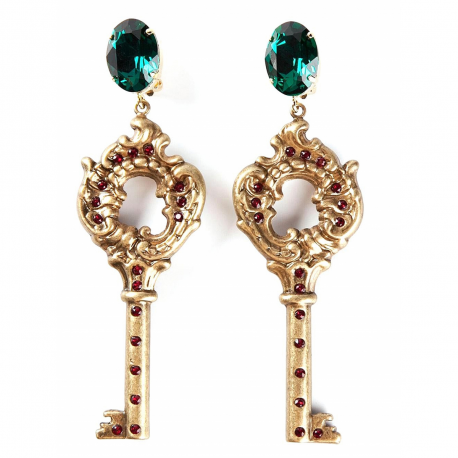 and dolce key earrings gabbana en