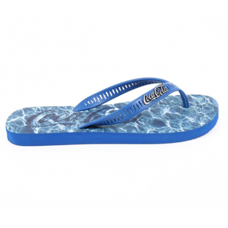 Coca Cola mens flip flop CCA2006 WATER BLUE