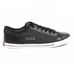 Coca Cola mens sneakers CCA0745 MODERN CASUAL 2 BLACK