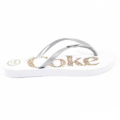 Coca Cola ladies flip flop CCA0483 COKE X BRIGHT SILVER