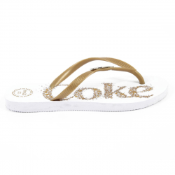 Coca Cola ladies flip flop CCA0483 COKE X BRIGHT GOLD