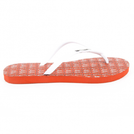 Coca Cola ladies flip flop CCA0594 WISE GIRL WHITE