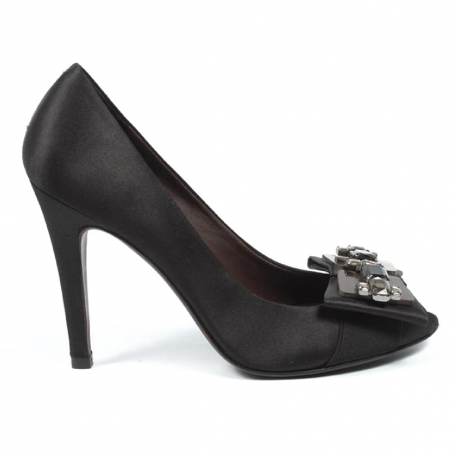 Max Azria ladies pump open toe MA-ISHA BLACK