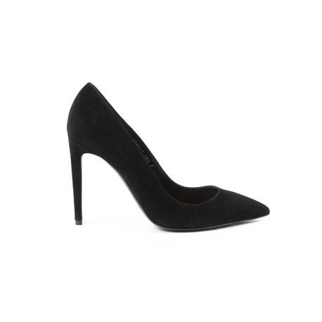Ralph Lauren Womens Pump CELIA KIDSUEDE BLACΚ