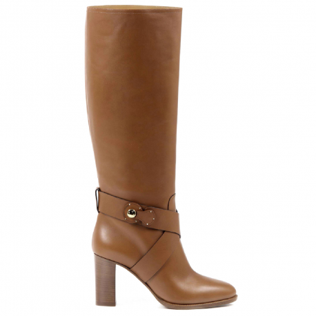 Ralph Lauren Womens High Boot MEARA SPORT CALF RL GOLD
