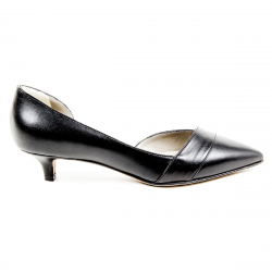 Kiton Womens Pump Open Side D39809 VIP NERO