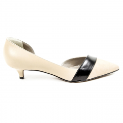 Kiton Womens Pump Open Side D39809 VIP 2199 BEIGE NERO