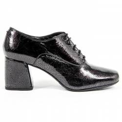 V 1969 Italia Womens Heeled Oxford Shoe B2461 CRASH NERO