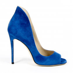 Andrew Charles Womens Pump Open Toe Blue DAFNE
