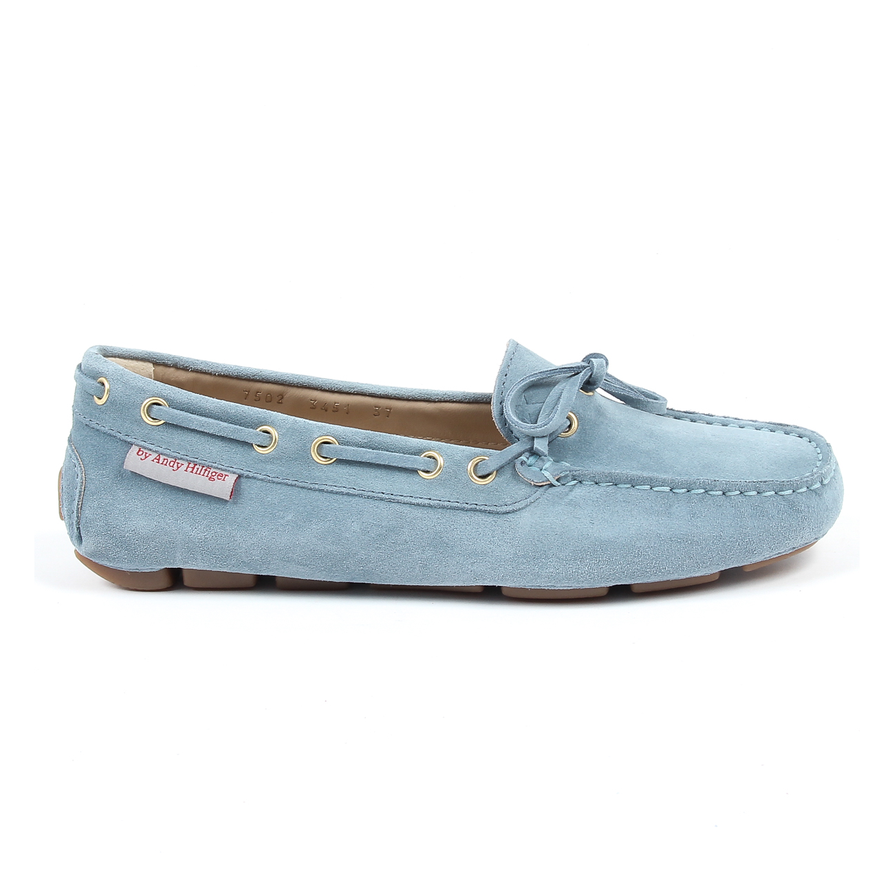 Andrew Charles Womens Loafer Light Blue CAMILLA. Loading zoom