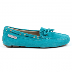 Andrew Charles Womens Loafer Light Blue CAMILLA