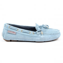 Andrew Charles Womens Loafer Light Blue SUNDAY
