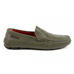 Andrew Charles Mens Loafer Dark Green JACKSON