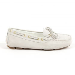Andrew Charles Womens Loafer White CAMILLA