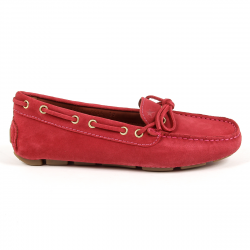Andrew Charles Womens Loafer Red CAMILLA