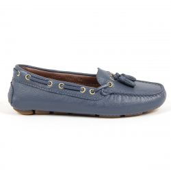Andrew Charles Womens Loafer Blue GIULY