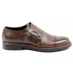 Andrew Charles Mens Monk Strap Shoe Brown KURT