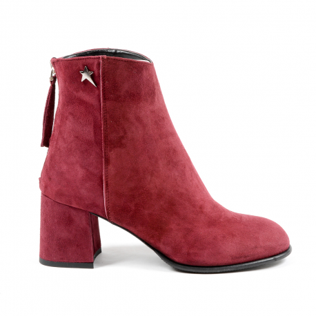 andrew charles womens heeled ankle boot bordeaux linda buy2bee. Black Bedroom Furniture Sets. Home Design Ideas