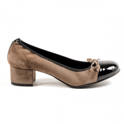 Andrew Charles Womens Ballerina Taupe FLORENCE