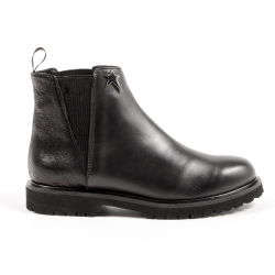 Andrew Charles Womens Ankle Boot Black CHRISTINA