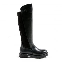 Andrew Charles Womens High Boot Black PAT